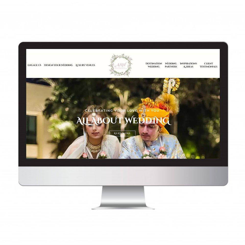 all about wedding, website design