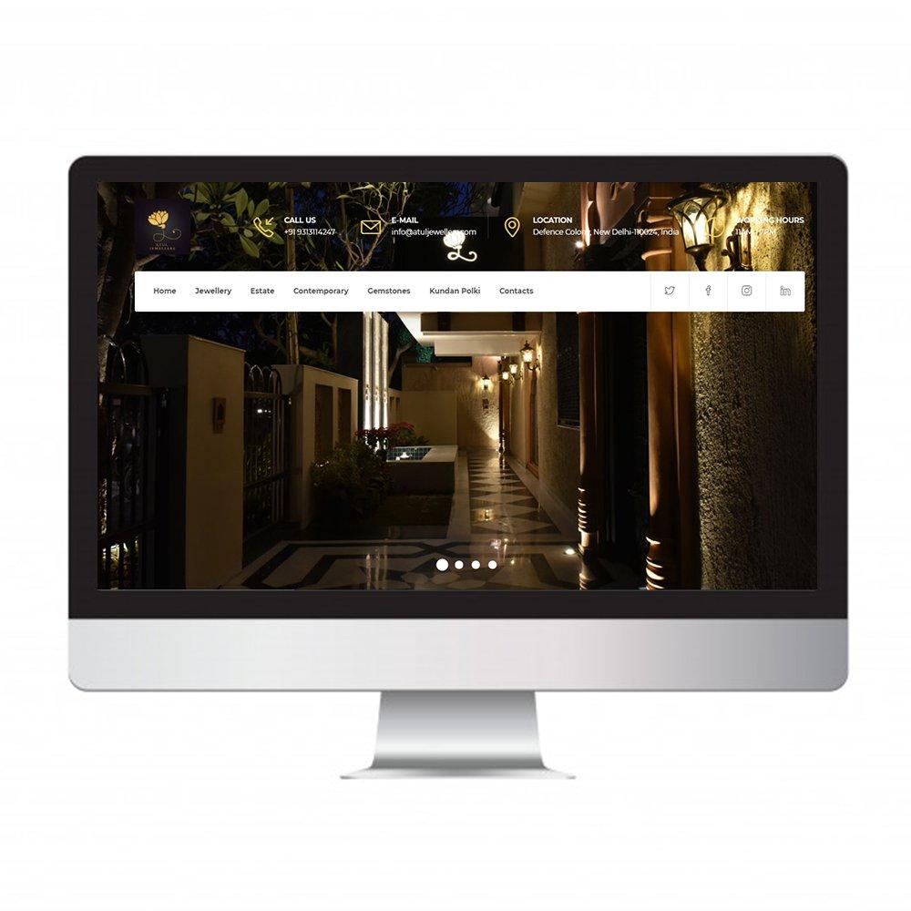 atul jewellers, website design