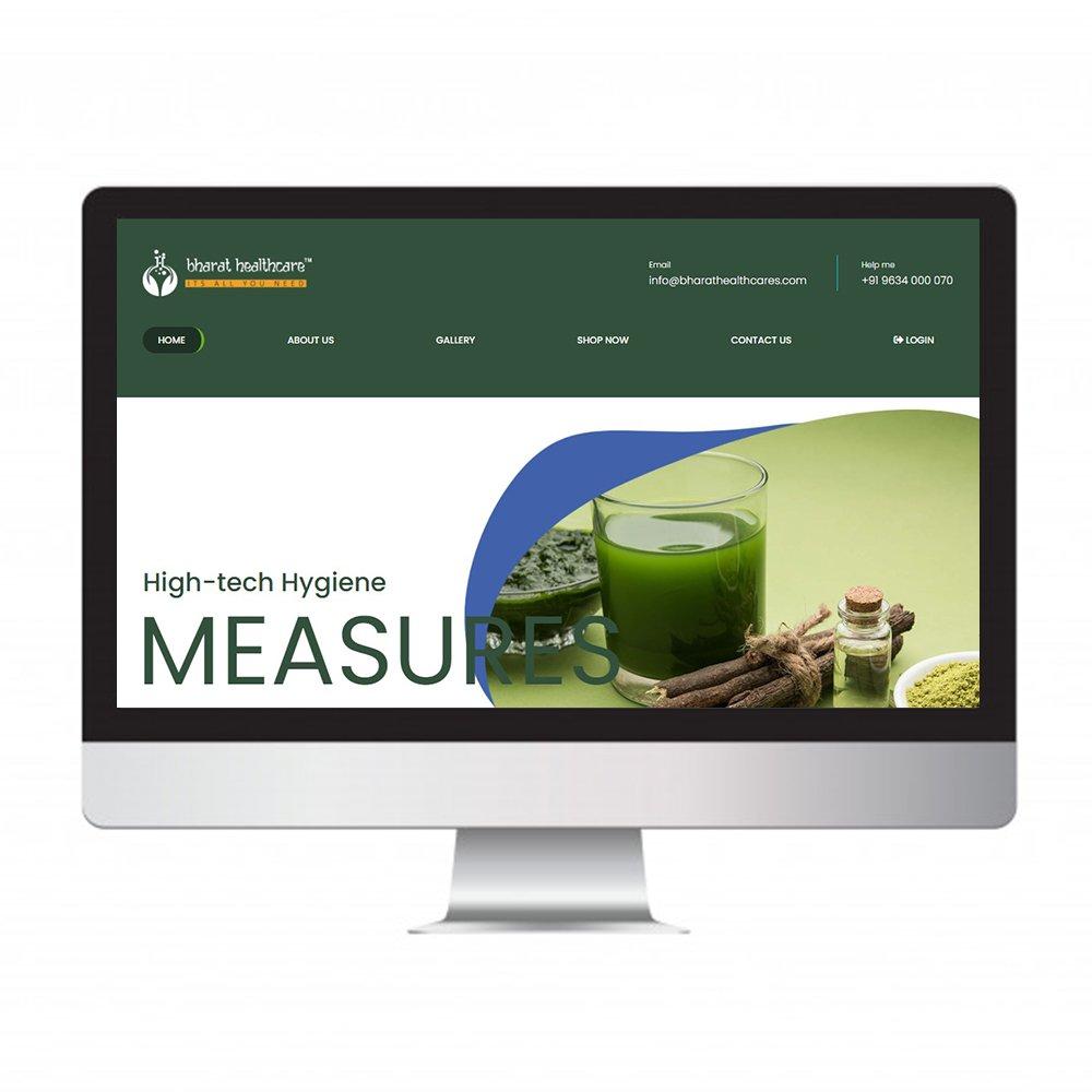 bharath health care, website design