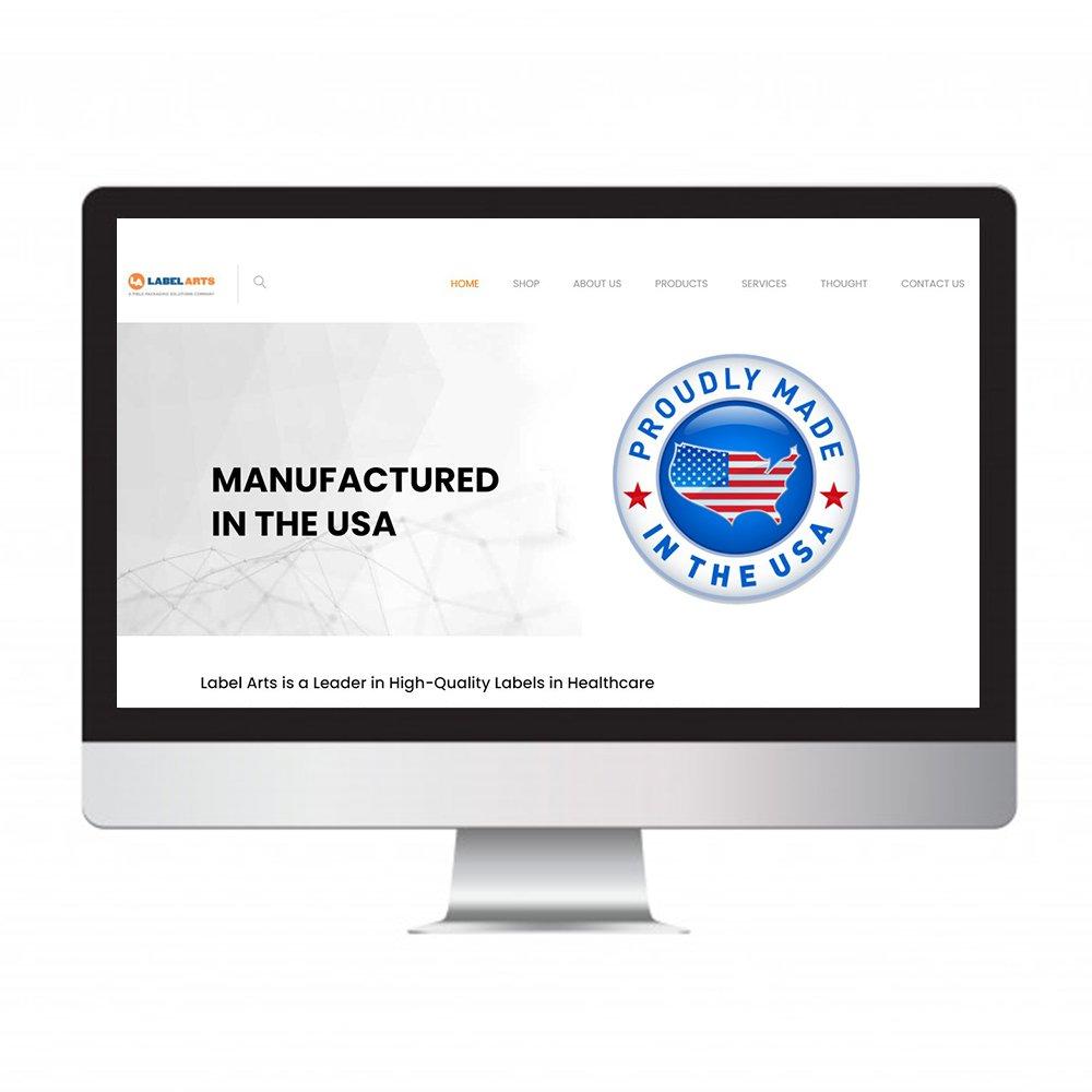 Label Arts, website design