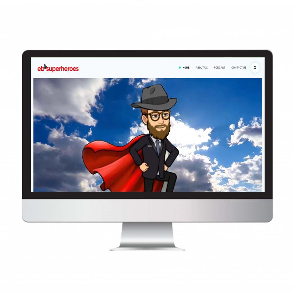 eb5superheroes, website design and development