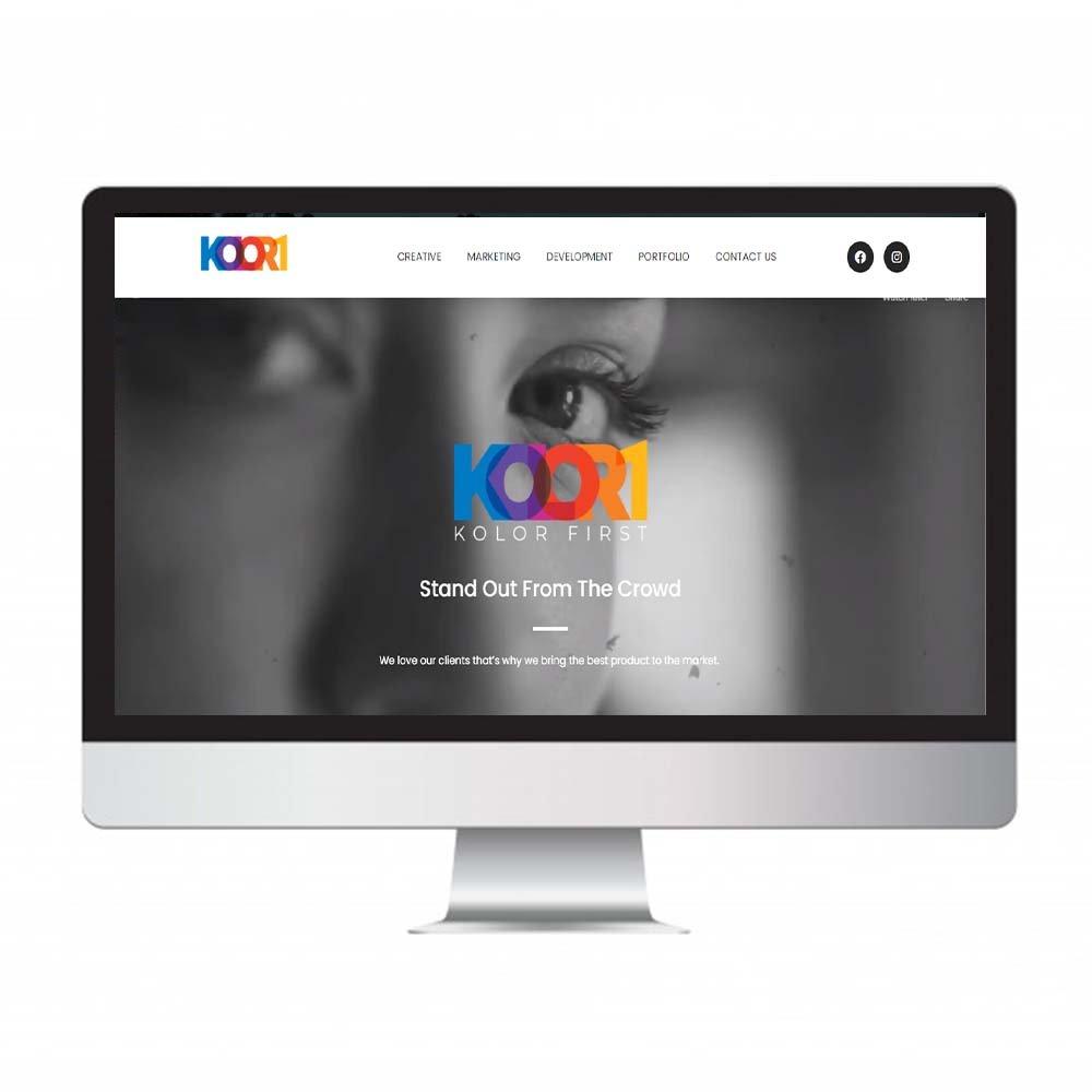 kolor 1st, website design and development